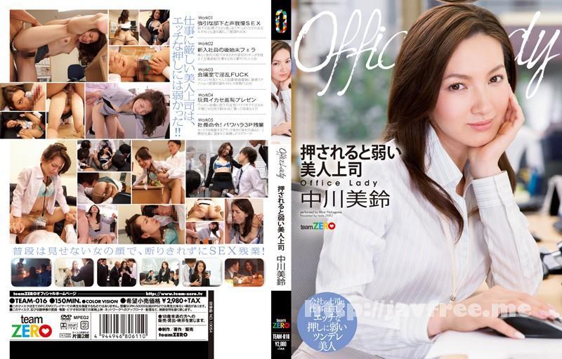 [TEAM-016] Office Lady 押されると弱い美人上司 中川美鈴