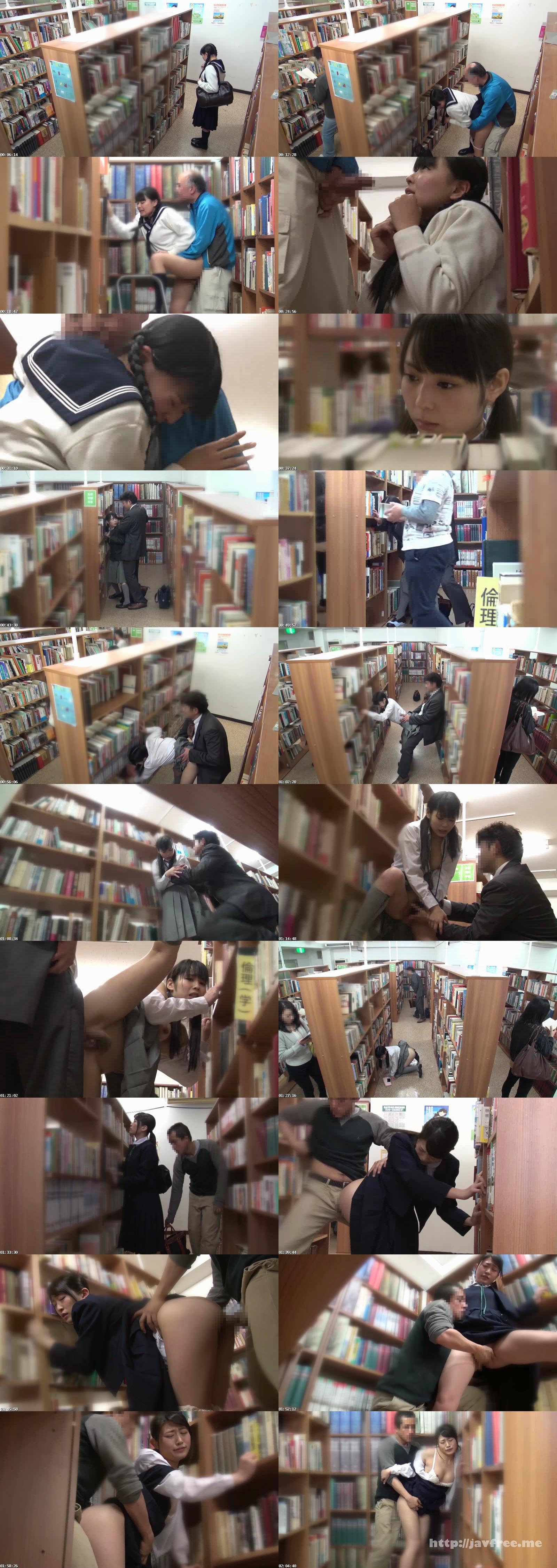 [DVDES 823] 公共施設で突然の強制わいせつ 声を出せない挿れっぱなし図書館 真面目な女子校生の未成熟なキツマンにデカチン即ハメ!合体したまま館内連れ回し!長時間挿入でガマンできずに無念の発情潮!! DVDES