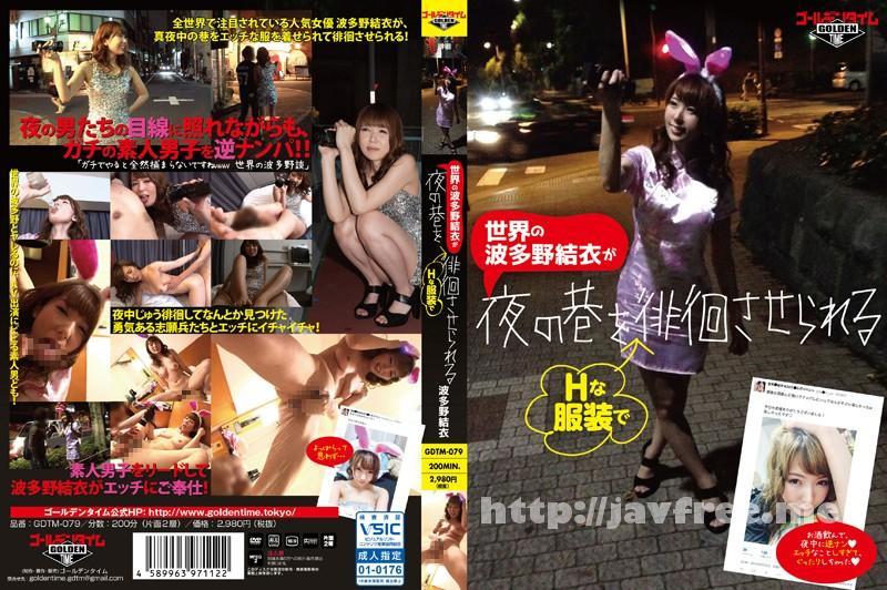 [GDTM 079] 世界の波多野結衣がHな服装で夜の巷を徘徊させられる 波多野結衣 GDTM
