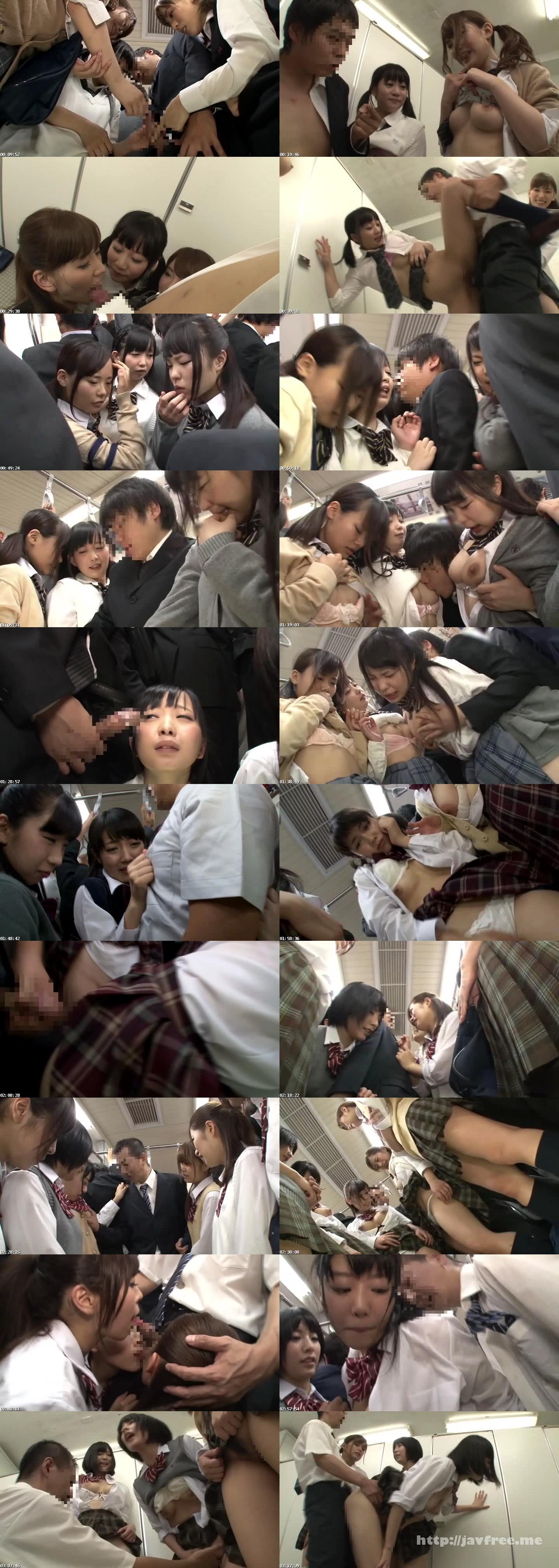 [HUNT 895] 満員電車で女子校生グループに身動きができないほど前後密着!10代の甘い香りにたまらず勃起してしまい、痴漢に間違われると思って焦っていたらまさかの勃起チ○ポに興味津々でからかいながらもヌイてくれた! HUNT