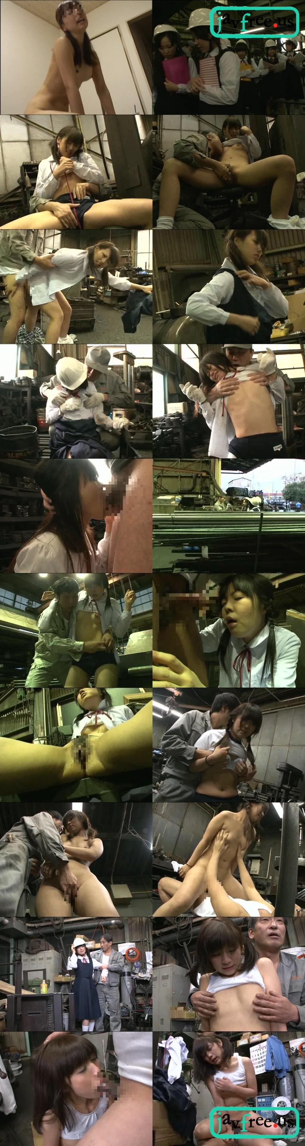 [HUNT 424] 工場見学でクラスメイトと少し離れて歩く「うぶな女の子」は、工員のおじさんにエッチなことをされても拒めない!! HUNT