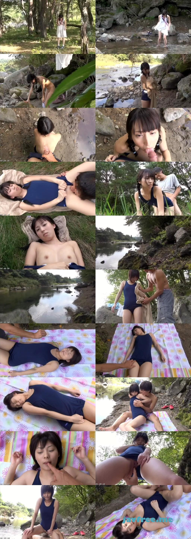 [IBW 351] 故郷の川で遊ぶスク水少女 IBW