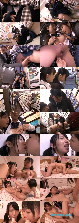 [NHDTA 354] 痴漢OK娘 レズスペシャル 4 本屋に来た女子校生をキスで興奮させてお漏らしするまで感じさせろ NHDTA