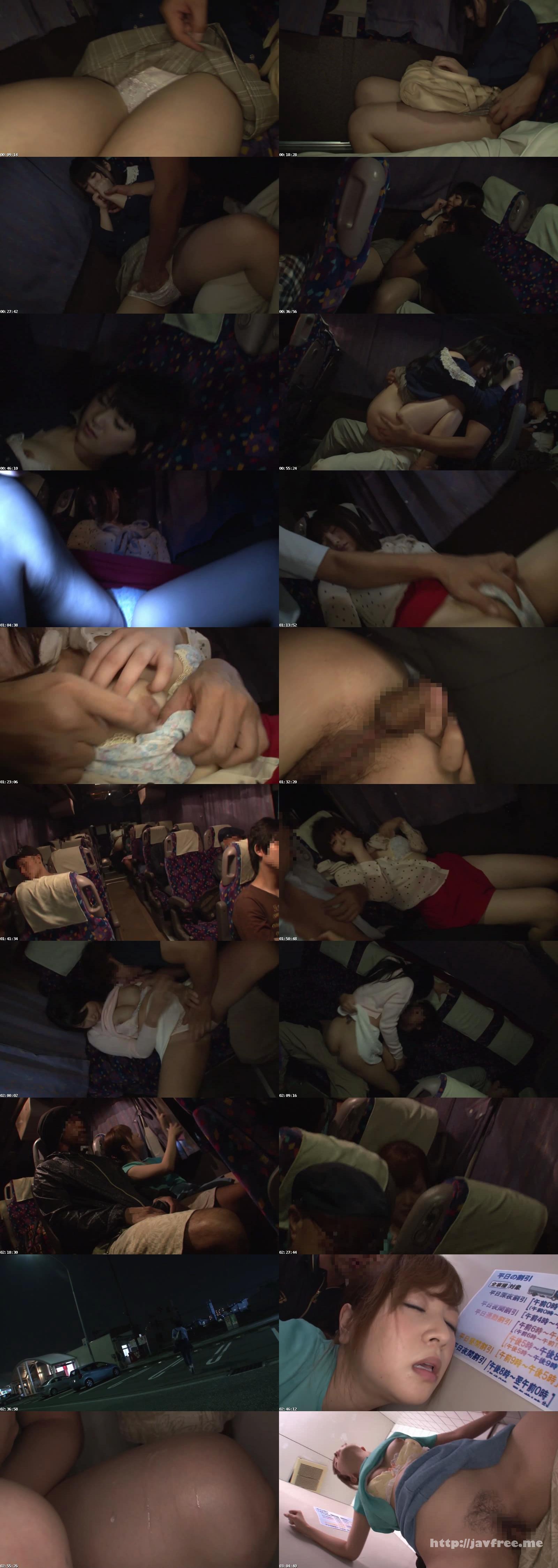 [NHDTA 608] 夜行バスで声も出せずイカされた隙に生ハメされた女はスローピストンの痺れる快感に理性を失い中出しも拒めない NHDTA