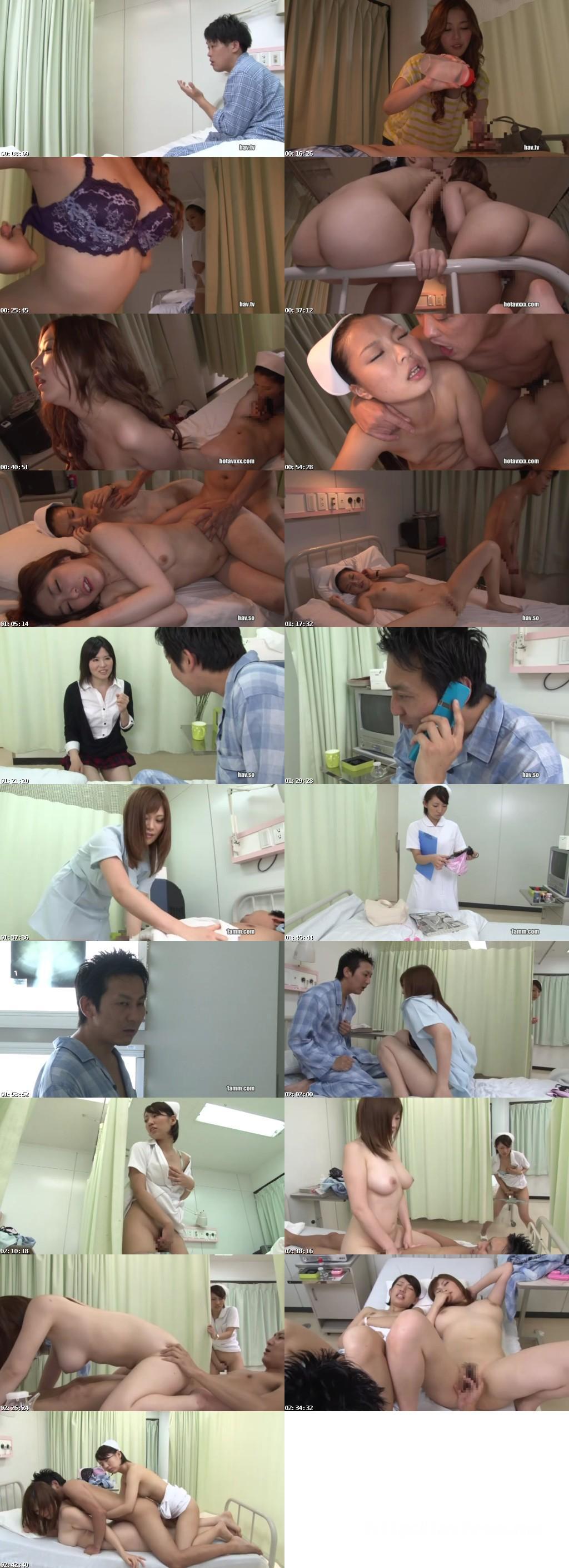 [RCT 527] 病室にデリヘル呼んでホントはこっちとヤリたかった美人看護師に見せつけ一緒に3PSEX RCT
