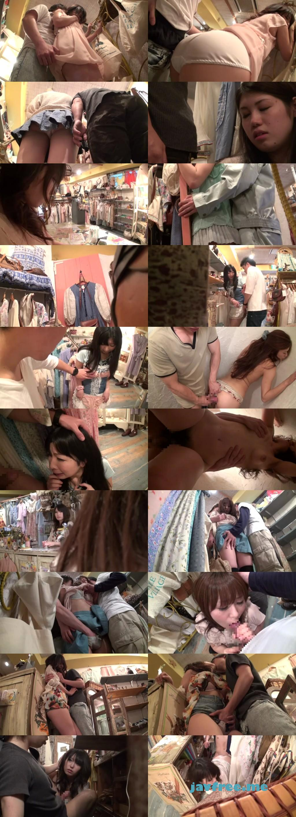 [SW 131] 女の子向けの洋服屋さんで興奮して、勃起チ○ポをコッソリ擦りつけ痴漢したら可愛い女子店員がソノ気になった。 有村千佳 ほか SW