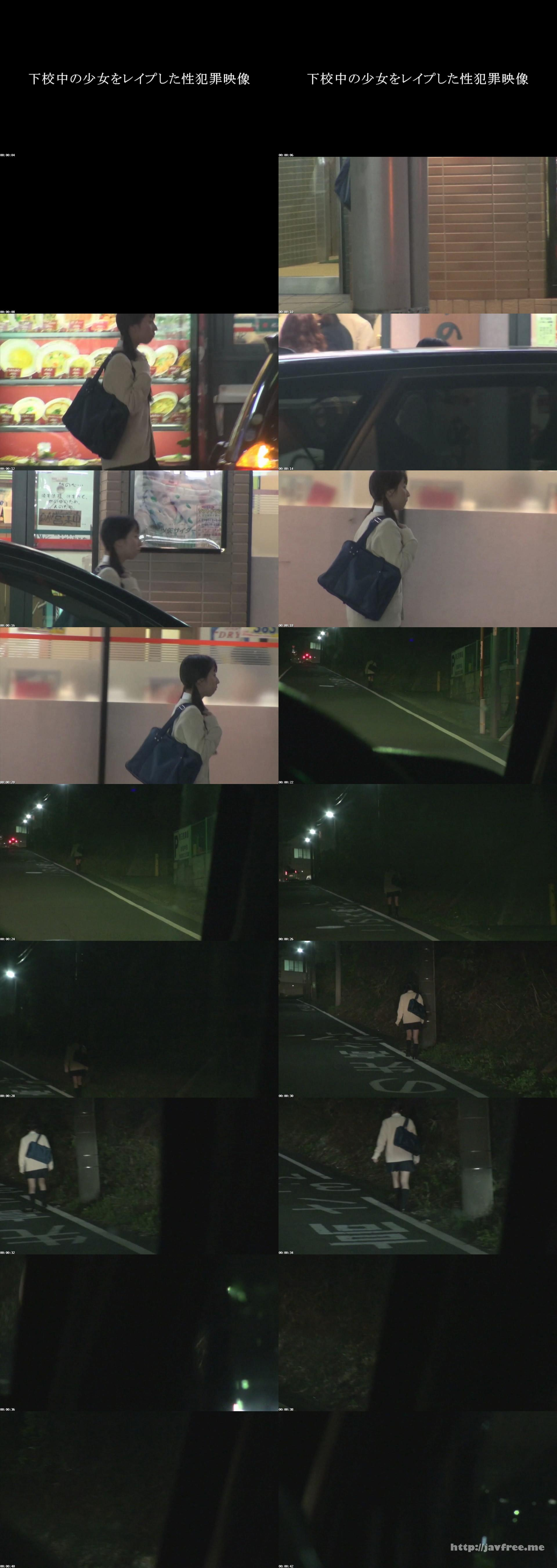 [TUE-051] 下校中の少女を盗撮した性犯罪映像