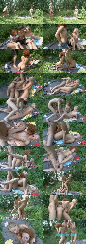 金髪天国616 春のピクニックの楽しみは、やっぱり青姦3Pファック  肉欲の春  / ヘーゼル エイブリー 金髪天国 kin8tengoku