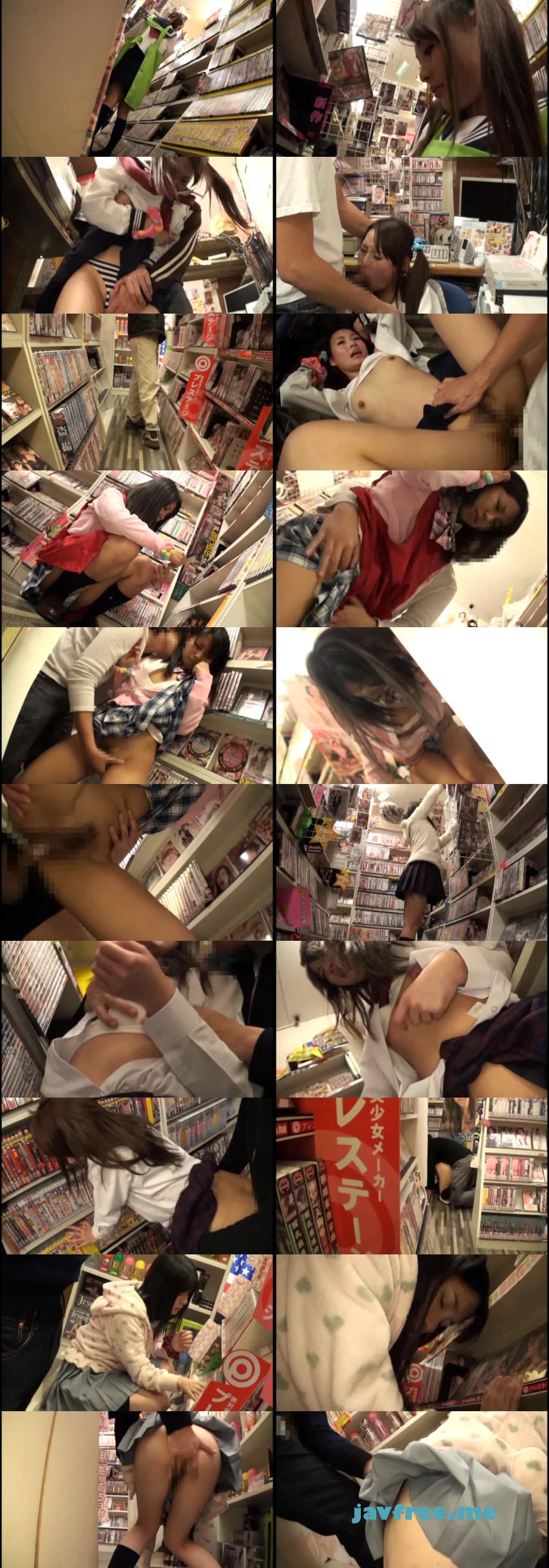 [AT 110] パパに頼まれて店番してたら…ビデオショップ痴漢ウブ濡れ中出し AT