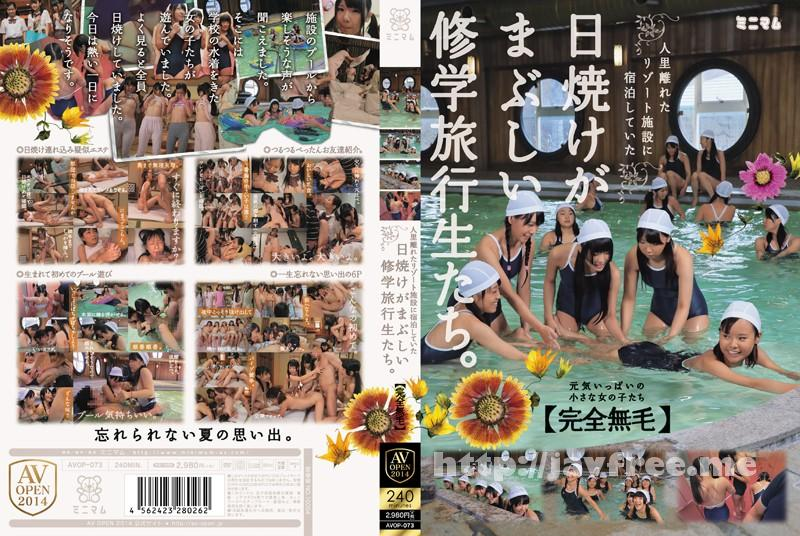[AVOP 073] 人里離れたリゾート施設に宿泊していた日焼けがまぶしい修学旅行生たち。「完全無毛」 AVOP