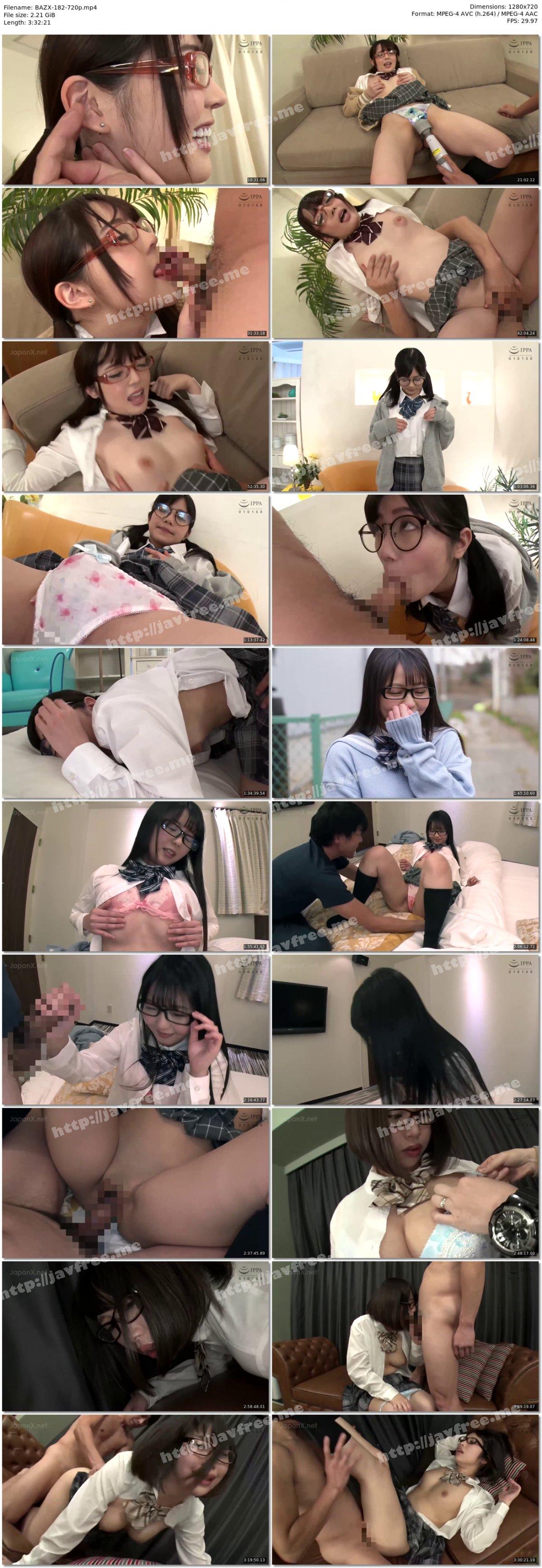 [HD][BAZX-182] 眼鏡腐女子●生の変態妄想性行為となまなかだし VOL.001