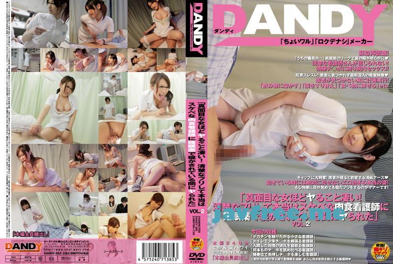 [DANDY 283] 「真面目な女ほどヤること凄い!清楚なフリして本当はスケベな肉食看護師に 睡眠薬で寝かされている間にヤられた」 VOL.2 DANDY