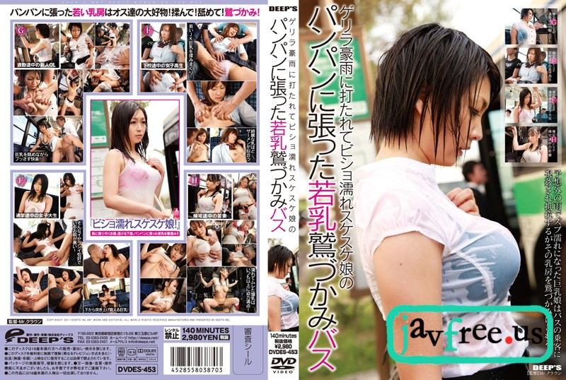 [DVDES 453] ゲリラ豪雨に打たれてビショ濡れスケスケ娘のパンパンに張った若乳鷲づかみバス DVDES