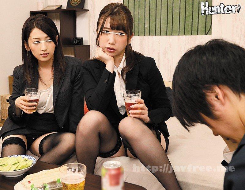 [HD][HUNTA-767] 『ねぇ~私たち気持ちいい??』酔っ払った女上司二人は性欲モンスター!酔っ払って終電を逃した女上司二人と宅飲みしてたらまさかの神展開!!女…
