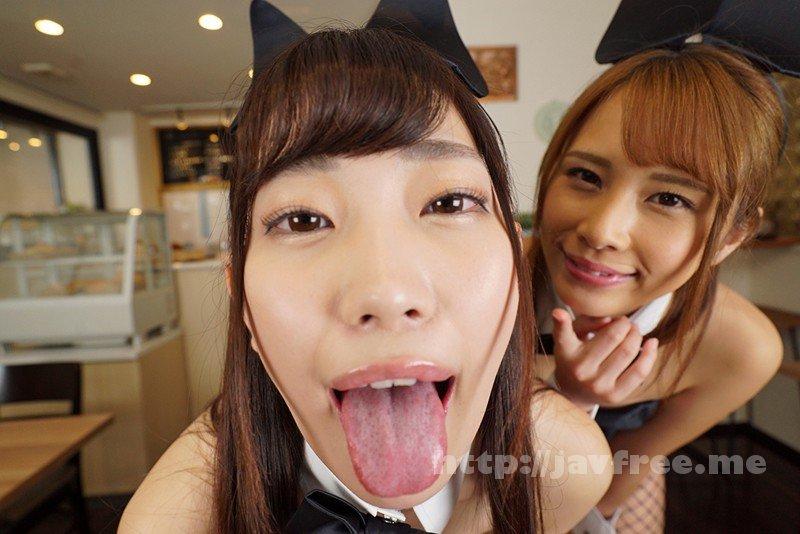 [KMVR-499] 【VR】舐めプレイ×バイノーラル×バニーガールカフェへようこそ 美谷朱里・花咲いあん - image KMVR-499-3 on https://javfree.me