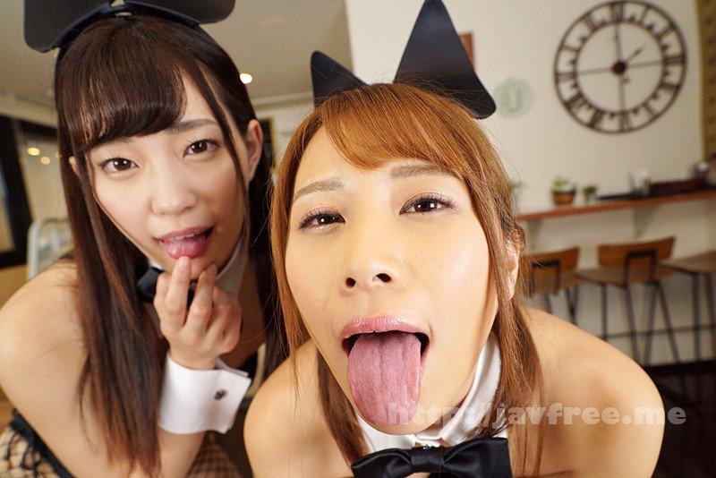 [KMVR-499] 【VR】舐めプレイ×バイノーラル×バニーガールカフェへようこそ 美谷朱里・花咲いあん