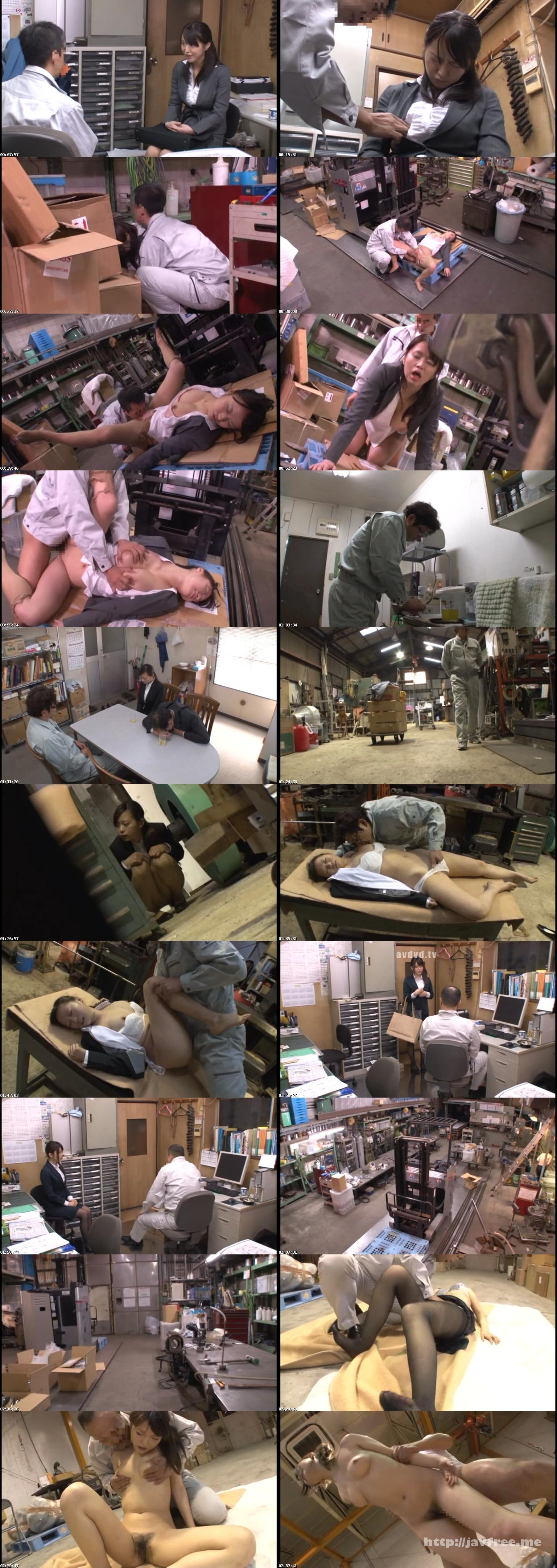 [NHDTA 532] 眠剤を飲まされ睡魔と闘いながらも半裸で逃げるOL…であったが無念の昏睡 NHDTA