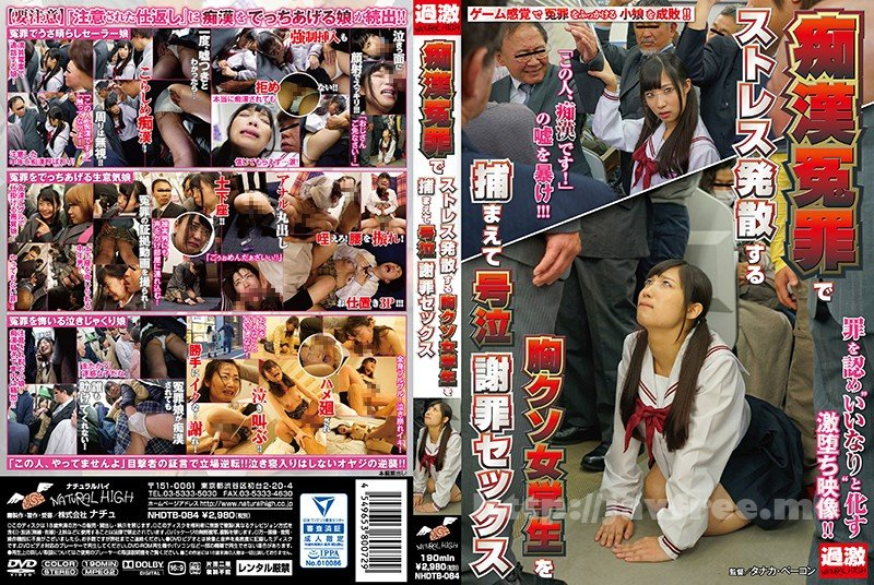 [NHDTB-084] 痴漢冤罪でストレス発散する胸クソ女学生を捕まえて号泣謝罪セックス
