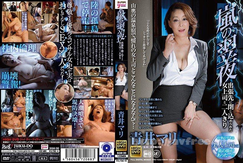 [HD][SGM-030] 嵐の翌夜、出張先に閉じ込められた女上司と二人きり 青井マリ