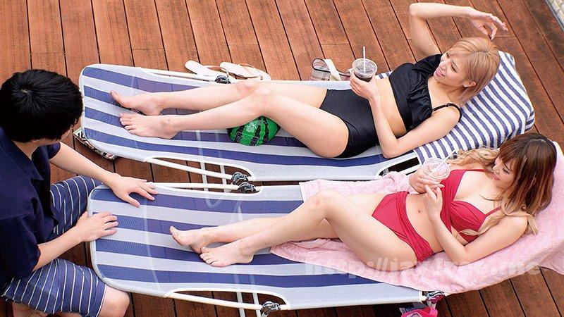 [HD][SKMJ-198] 湘南の海で出会った水着ギャルがデカチン童貞君と「素股オイルマッサージ」に挑戦! 生マンにヌルヌルこすれるデカマラに発情しちゃって『おま○こに入れてみるw』そのまま筆おろし生ハメ中出しSEX!! - image SKMJ-198-6 on https://javfree.me
