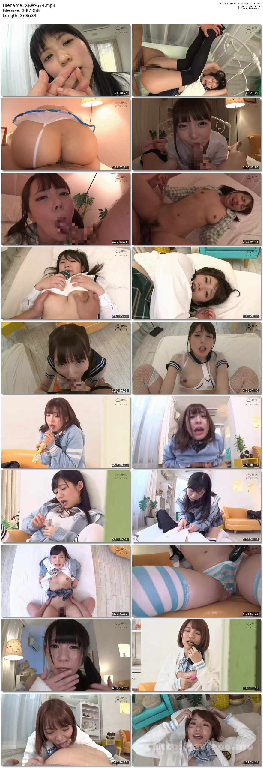[XRW-574] イクイク早漏妹と排卵日子作り生活 Complete Memorial BEST 8時間DVD2枚組