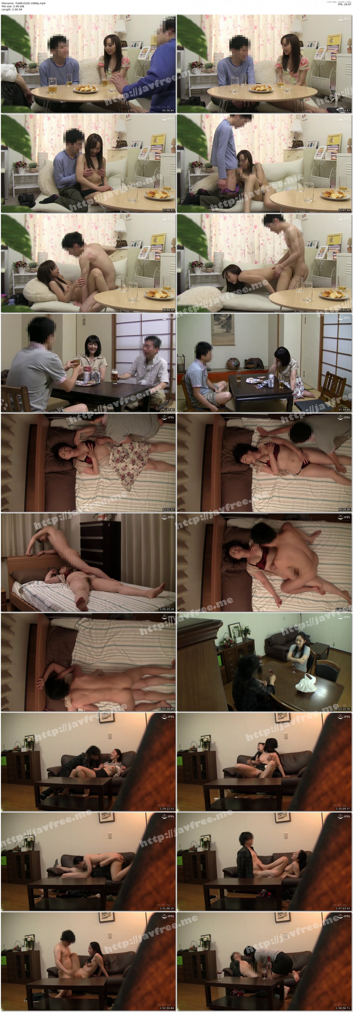 [HD][YLWN-032] 自慢の美人妻を酔わせて知り合いの他人棒で寝取らせてみた4時間 - image YLWN-032b-1080p on https://javfree.me