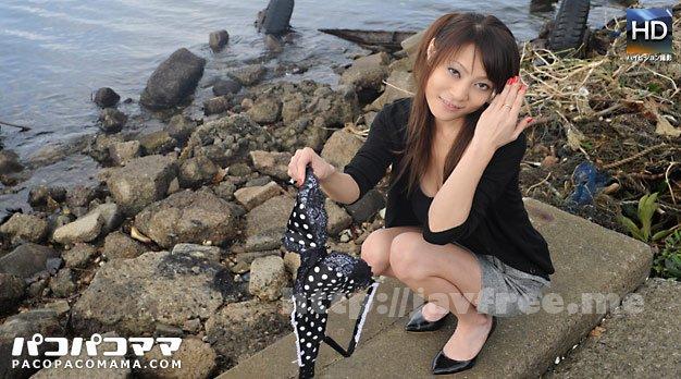 pacopacomama 121110_260 女医・西川○子に似た美人巨乳熟女が野外露出